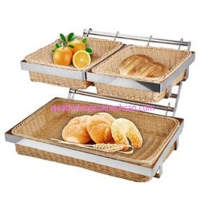 Khay đựng bánh mì buffet 2ngăn- TPZ03114