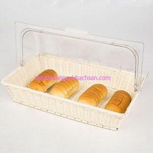 Khay nhựa trưng bày bánh mỳ buffet - TPZ03119