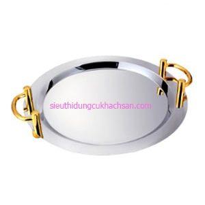 Khay inox trưng bày buffet hình tròn - TP8205