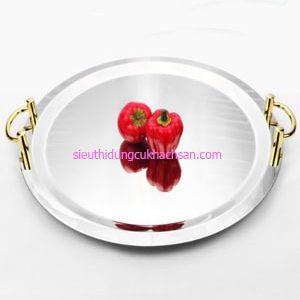 Khay inox trưng bày buffet hình tròn - TP8207