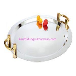 Khay inox trưng bày buffet hình tròn - TP8208