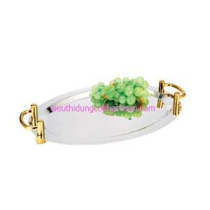 Khay inox trưng bày buffet hình oval - TP8211