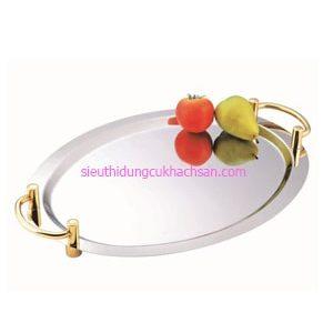 Khay inox trưng bày buffet hình oval - TP8210