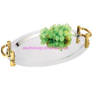 Khay inox trưng bày buffet hình oval - TP8209
