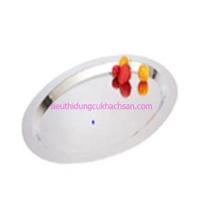 Khay inox trưng bày buffet hình oval - TP8224