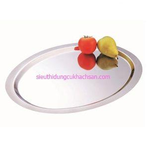 Khay inox trưng bày buffet hinh oval - TP8223
