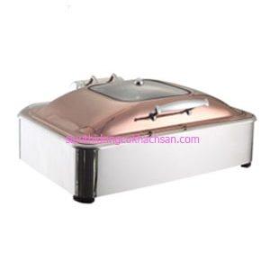Nồi hâm buffet chữ nhật nắp màu đồng - TPBFLH006