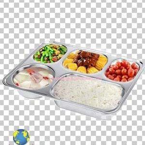 Khay cơm phần inox 5 ngăn sâu rộng TPKP0301