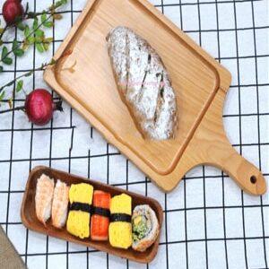 Khay gỗ đựng thức ăn hình chữ nhật dùng trong nhà hàng - TPHM0205
