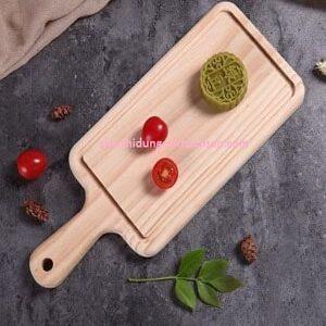 Khay gỗ đựng thức ăn có tay cầm - TPCM0206