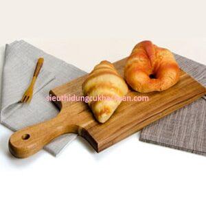 Khay gỗ chữ nhật có tay cầm - TPHM0202