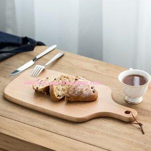 Khay gỗ trưng bày bánh hình chữ nhật