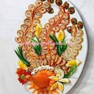 Dĩa Oval 32cm Jasmine Màu Trắng Cao Cấp