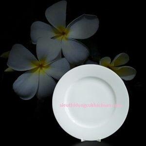 Đĩa tròn trắng 15 cm Cao Cấp - Gốm Sứ Minh Long Tại TPHCM