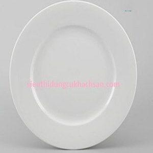 Dĩa tròn 18cm Jasmine trắng Minh Long