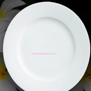 Đĩa sứ trắng tròn 20cm - Đại Lý Gốm Sứ Minh Long Tín Phát Tại TPHCM